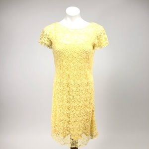 Ralph Lauren floral lace bateau cotton dress cap